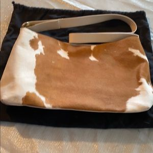 Pony hair shoulder bag from DKNY